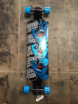 Santa Cruz Longboard Screaming Hand Logo Black/Blue