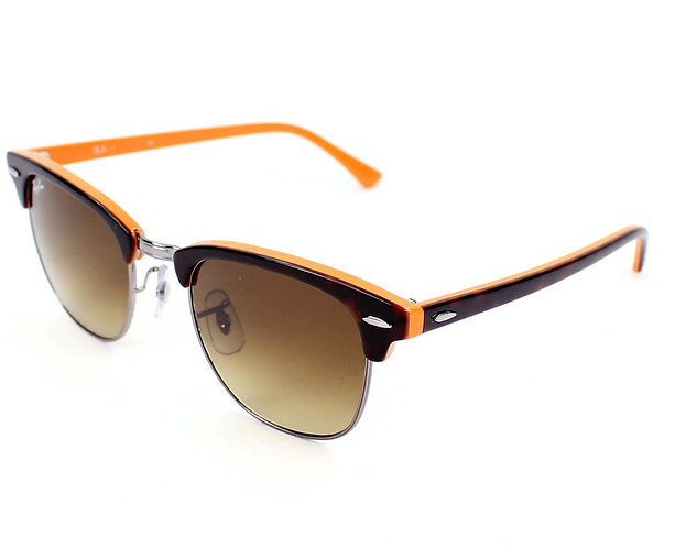 Ray-Ban Clubmaster - Orange Tortoise Shell