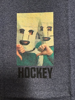 Hockey Baghead Tee Dark Gray
