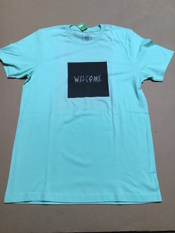 Welcome tee Mint green