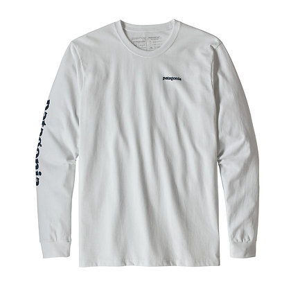 Patagonia Men's Long-Sleeved Text Logo Responsibili-Tee® - WHST [39042]