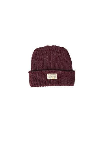 Seams Knit Beanie - Burgundy