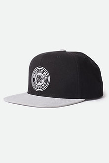 Brixton Forte Snapback Hat - black/grey