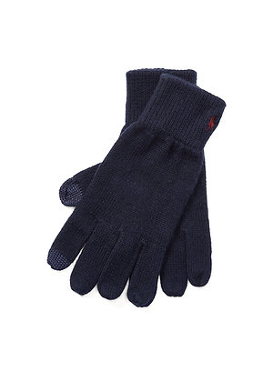 Polo RL Cotton-Blend Touch Gloves - Navy