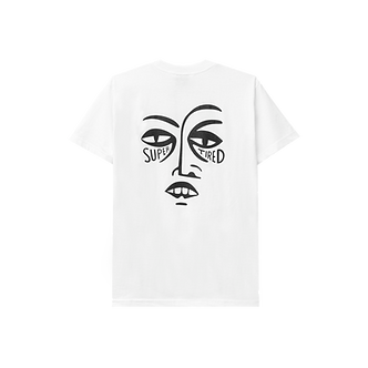 Tired Super Tired Tee - White