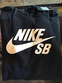 Nike SB Hoodie Logo - Black/White - AJ973-010