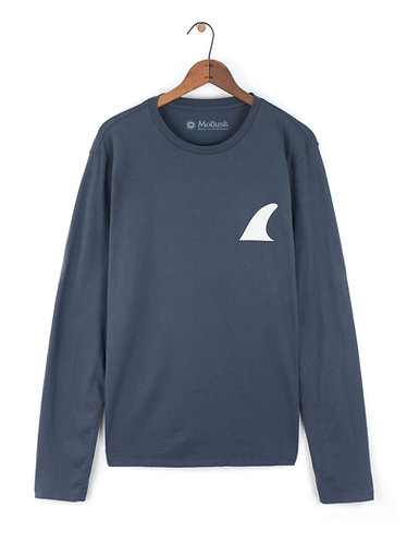Mollusk Silverfin Long Sleeve - Faded Navy