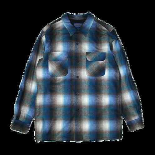 Pendleton Vintage Fit Rider Shirt (Grey/Blu Ombre)