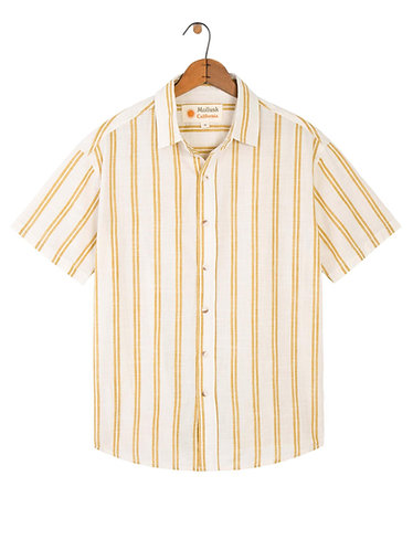 Mollusk Summer Shirt - Yellow Stripe