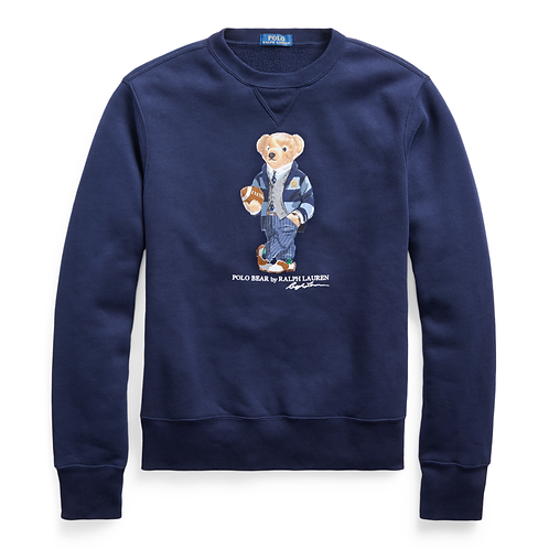 Polo RL Bear Fleece Crew - Cruise Navy