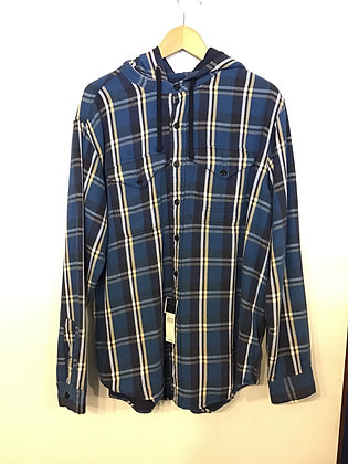 Polo RL Hooded Flannel - Navy
