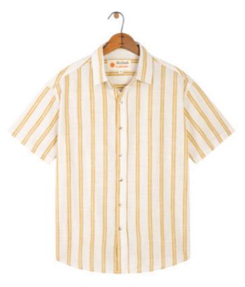 Mollusk Summer Stripe Shirt - Yellow Stripe
