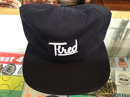 Tired script hat - navy