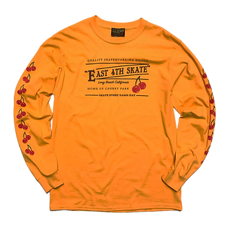East 4th Skate Cherry L/S Tee (Gold)