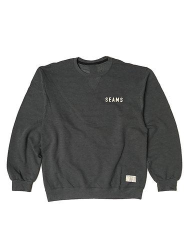 Seams Crewneck Fleece - Charcoal Heather