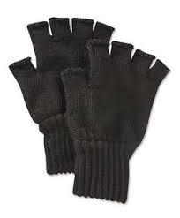 Barbour Fingerless Glove - Black
