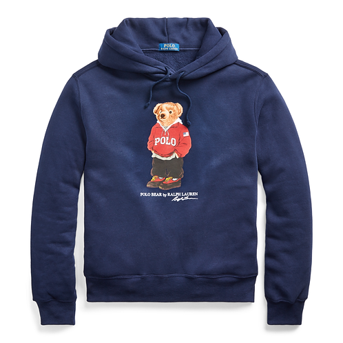 Polo RL Bear Fleece Hoodie - Cruise Navy