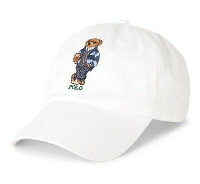 Polo RL Preppy Bear Chino Ball Cap - White