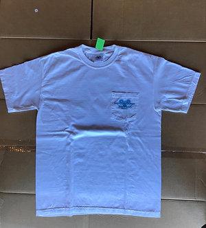SMA Logo Pocket Tee - White