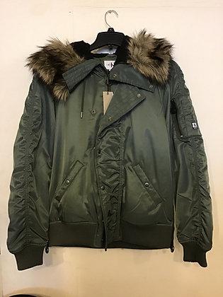 Calvin Klein Fur Jacket - Olive