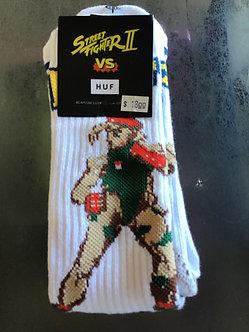 Huf Socks Chun Li & Cammy White