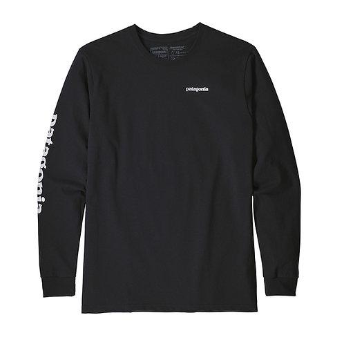 Patagonia Men's Long-Sleeved Text Logo Responsibili-Tee® - BLK [39042]