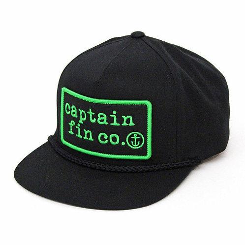 Captain Fin Co. Patch 5 Panel Hat - Black