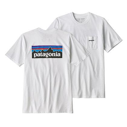 Patagonia Men's P-6 Logo Pocket Responsibili-Tee® - WHI [39178]