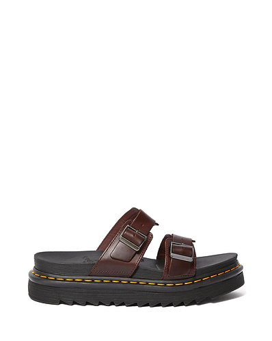 Dr. Martens Myles Brando Leather Buckle Slide Sandal - Charro