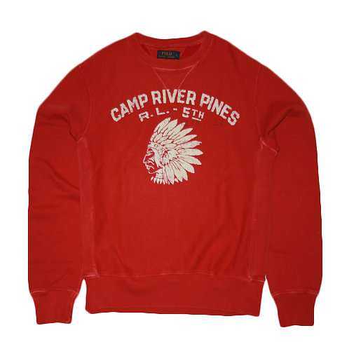 Polo RL Snakeriver Crewneck - Deep Orange