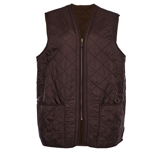 Barbour Polarquilt Waistcoat Zip - Brown