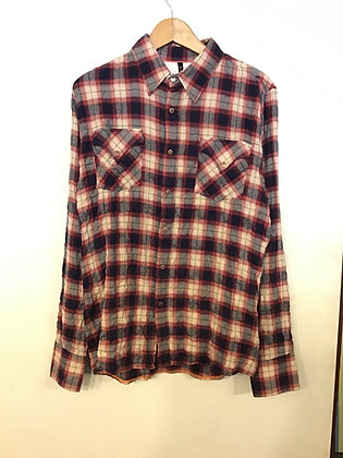 Nudie Jeans Benny L/S Shirt - Red/Blue