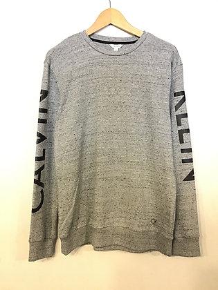 Calvin Klein Sleeve Print Crew - Marble Grey