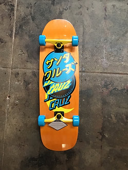 Santa Cruz Shaped Cruiser Japanese Logo Orange/Blue