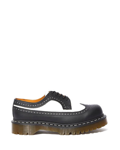 Dr. Martens 3989 Bex Brogue - Black/White Smooth