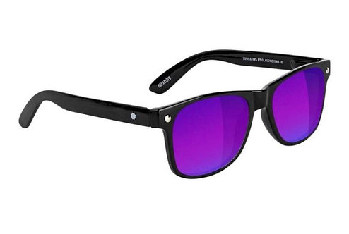Glassy Eyewear Leonard Polarized Black/Blue Mirror