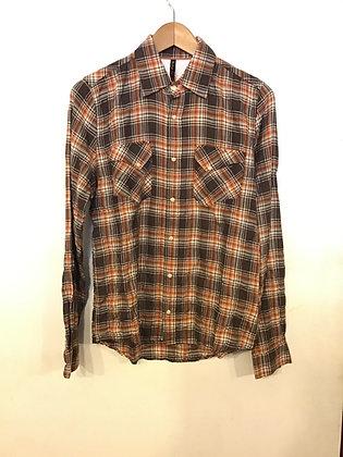 Nudie Jeans Herbert L/S Shirt - Brown/Orange