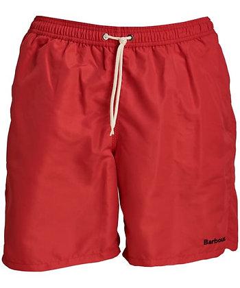 "Barbour Logo 7"" Swim Shorts - Red"