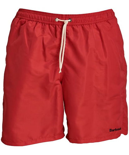 "Barbour Logo 7"" Swim Shorts - Red"