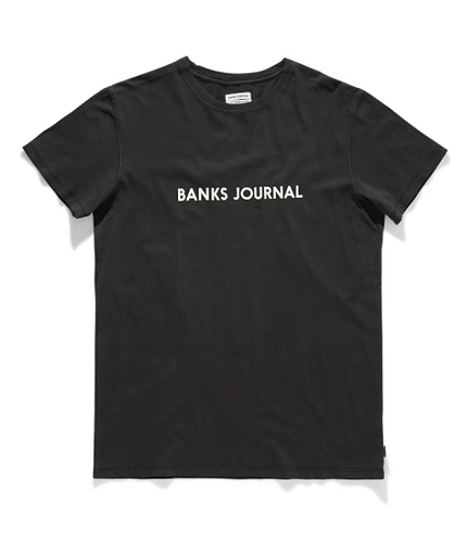 Banks Label Staple Faded Tee - Dirty Black