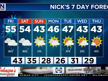 7 Day Forecast: A Very Iffy Start to Weekend