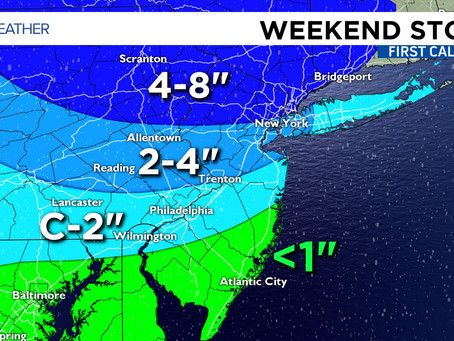 "First Major Storm of the Season Eyes up NJ...6""+ of Snow or Rain? What are YOU Getting?"