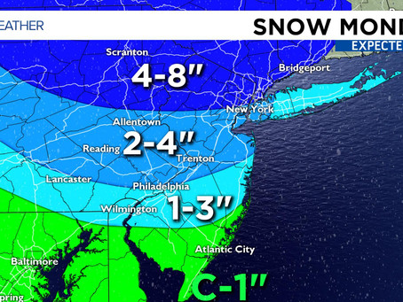 Winter Storm to Bring Snow to South Jersey Monday