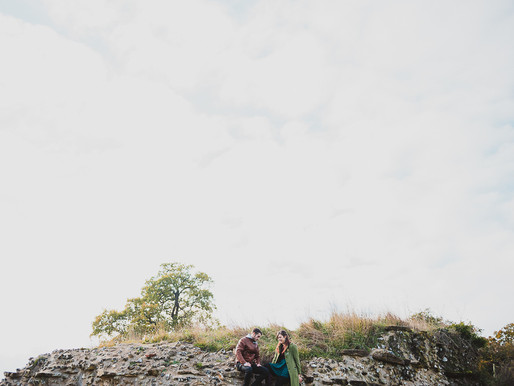 November Berkshire Engagement Shoot along a Roman Wall!