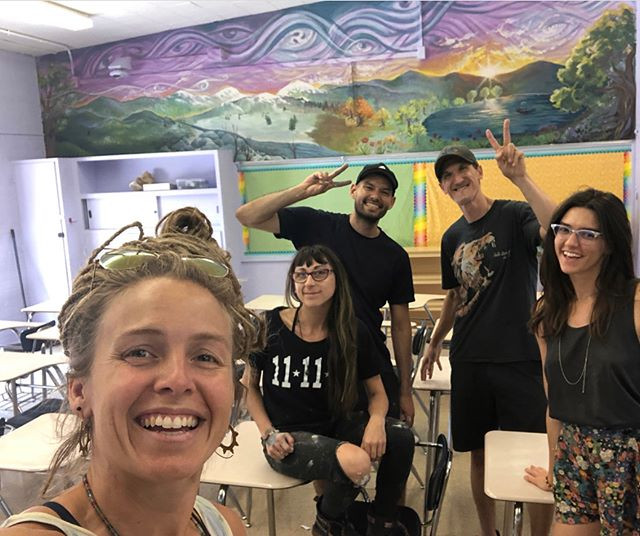 mural collab coordinated by the fabulous master painter Amanda Sage