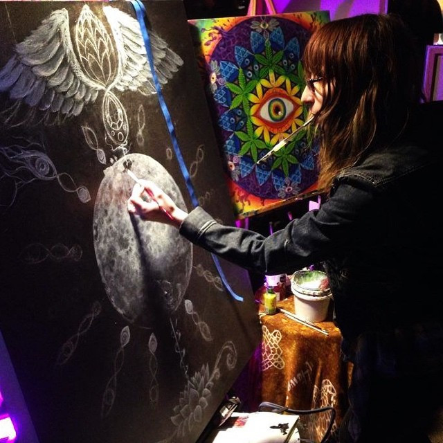 Wow! I had such an epic time LIVE PAINTI