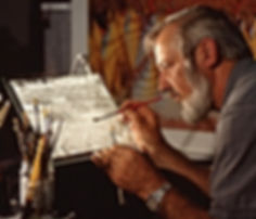 Jim Frazier at work with his Crystal Art