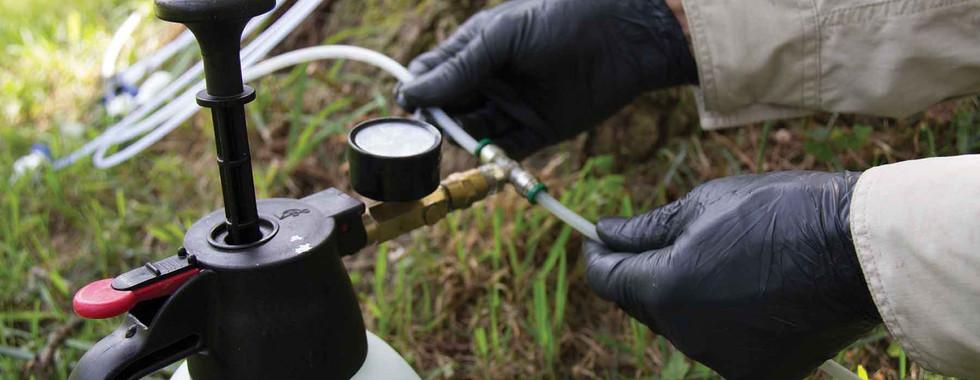 Tree Defend Injector Setup of Tubing Harness