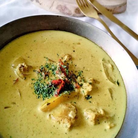 Mijoté de cabillaud curry et lait de coco
