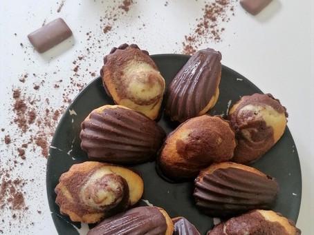 Madeleines marbrées au chocolat